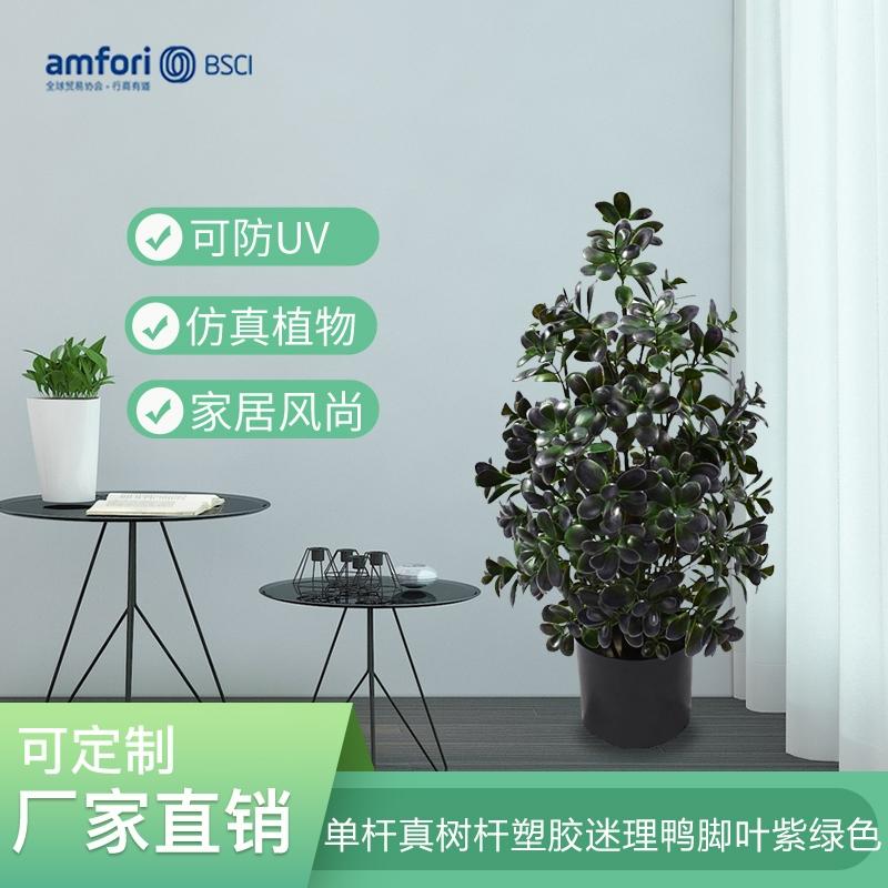 2尺塑胶迷理鸭脚叶植物仿真植物盆栽