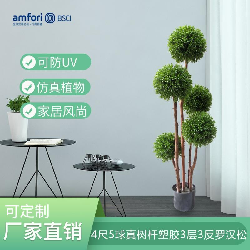 4尺5球真树杆塑胶3层3反罗汉松