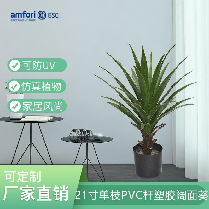 21寸单枝PVC杆塑胶阔面葵