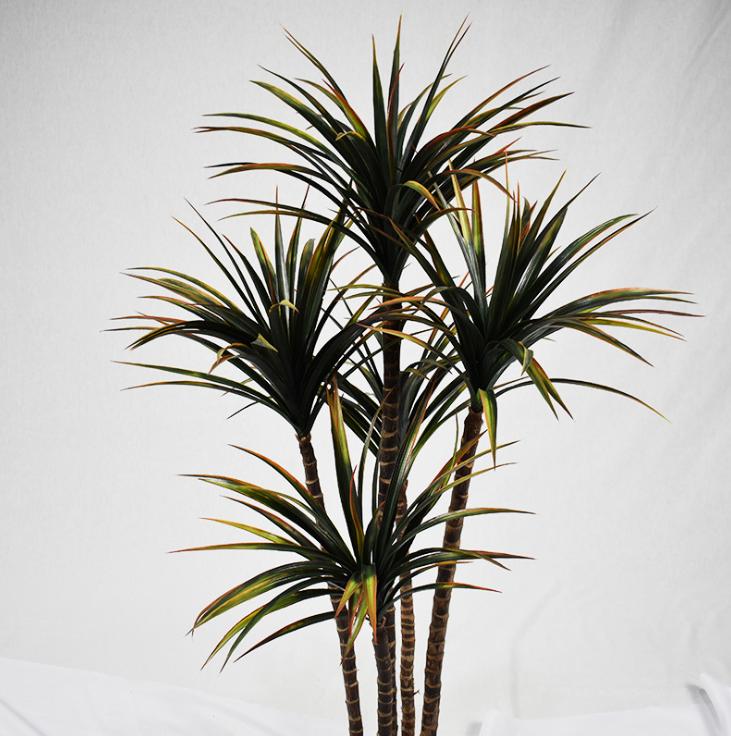 仿真植物造景,永不凋零的绿色景观。